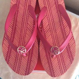 Woman's Coach Flip Flops Size 7M, Alessa Pink